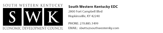 South Western Kentucky EDC | 2800 Fort Campbell Blvd | Hopkinsville, KY 42240 | 270.885.1499 | info@southwesternkentucky.com